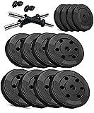 Aurion Fitness PVC Dumbell Set Combo Home Gym (Black) (26)