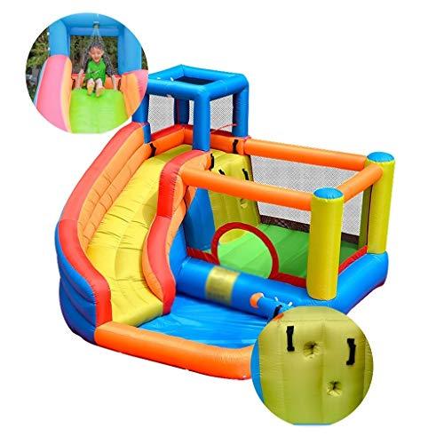 Opblaasbare kamer met glijbaan bounce huis speelhuisje for kinderen kind springen bed met water sprayfunctie, send haardroger (Color : Yellow, Size : 280 * 320 * 210cm)