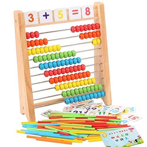 Abacus Holz Abacus Kinder frühen Mathe lernen Spielzeug Zahlen zählen Berechnung Perlen Abacus pädagogische Lehrmittel NOBOX