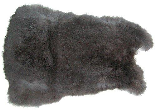 Ensuite Kaninchenfelle grau naturfarben, ca. 28x30 cm, Felle vom Kaninchen mit seidigem Haar