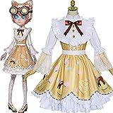 GGOODD Juego de Anime Disfraz de Cosplay Identity V Maquinista Candy Girl Lolita Vestido Traje Halloween Carnaval Fiesta de Navidad