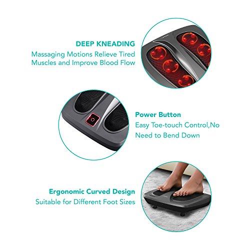 Niapo Shiatsu Heated Infrared Foot Massage Machine