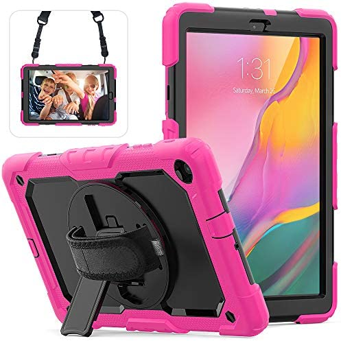 Galaxy Tab A 10 1 Case 2019 SM T510 T515 with Screen Protector Shockproof 360 Rotating Hand product image