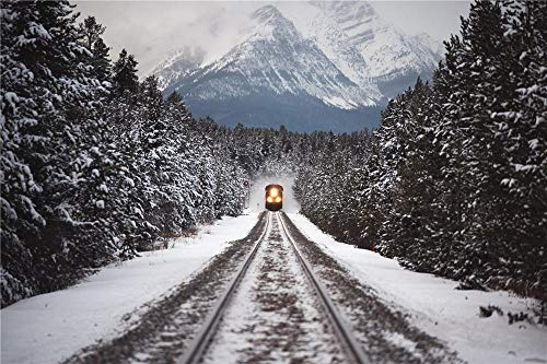 YANCONG Puzles Adulto De 1500 Piezas, El Tren Viaja A Través del Bosque De Montañas Nevadas