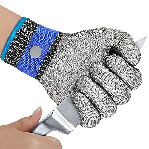 OKAWADACH Cut Resistant Gloves Food Grade Level 5 Protection Cut Proof...