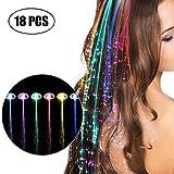 LED Haarschmuck, Kapmore Haarclips Leuchtend 18 Stücke LED-Haarspange Blinklicht LED Haare...