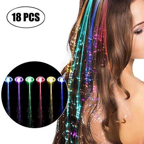 LED Haarschmuck, Kapmore Haarclips Leuchtend 18 Stücke LED-Haarspange Blinklicht LED Haare Haarspangen Leuchten Spielzeug Weihnachten