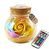 Creine Kreative Seifenblume LED Nachtlicht Geburtstag Valentinstag Home Decor Nachtlichter &...
