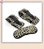 Niu-Man 3 PCS/Set Handcuffs Eye Mask Leopard Print Juegos Juguetes para Mujeres