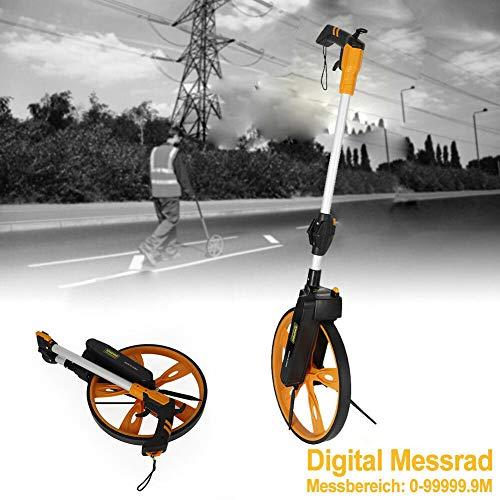 OUKANING Messrad Profi Digital Messrad bis 99999.9m Rolltacho Streckenmessgerät Messroller