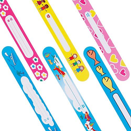 Nabance - 12 pulseras de seguridad para niños, reutilizables e impermeables Talla:8 PCS