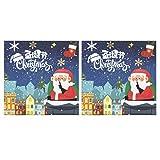 STOBOK 2 Set Pegatinas de Navidad Manualidades Pegatinas de Vacaciones álbum de Recortes para álbum de Fotos Bolsas de Regalos fabricación de Tarjetas Suministros para Fiestas (canción de Navidad)