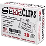 StikkiCLIPS, Plastic, White, 20/Pack