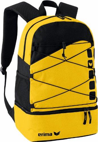 erima Multifunktionsrucksack mit Bodenfach, gelb/schwarz, One size, 16 Liter, 723343