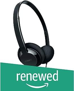 (Renewed) Philips SHL1000/10 Lightweight On-Ear Headphones (Black)