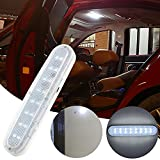 Auto tetto soffitto interno luci 16 LED Alta luminosità Bianco luci di lettura Doppio interruttore wireless universale USB ricarica per auto, barca, rimorchio, camper, 6500K