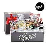 Gepp's Feinkost Bella Italia Geschenkbox   Geschenkkorb gefüllt mit italienischen Delikatessen, hergestellt nach eigener Rezeptur   Köstliches Gourmet-Geschenk für Männer und Frauen