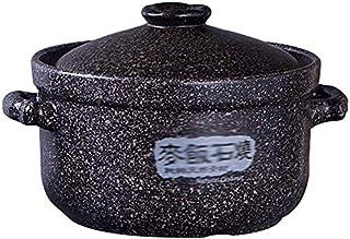 BUDBYU Ollas Cazuela de cerámica Cocina de inducción Olla Especial para el hogar Olla Tarro de Alta Temperatura Cazuelas (Tamaño: 3.0l) Fácil de Limpiar, Regalo