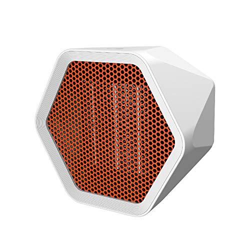 Calentador de escritorio eléctrico portátil, ventilador de aire caliente, calentador hexagonal, calentador, calentador, estufa, radiador, ahorro de energía, estancia silenciosa, para oficina, hogar