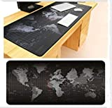 LASISZ Super Grand Tapis de Souris en Caoutchouc pour tablette de jeu d'ordinateur avec Tapis de Souris 1000x500mm / 900x40mm / 700x300mm / 600x300mm avec verrouillage des bords, 1000X500MM