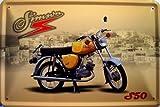 Simson S 50 gelb Motorrad DDR Blechschild Schild Blech Metall Metal Tin Sign 20 x 30 cm
