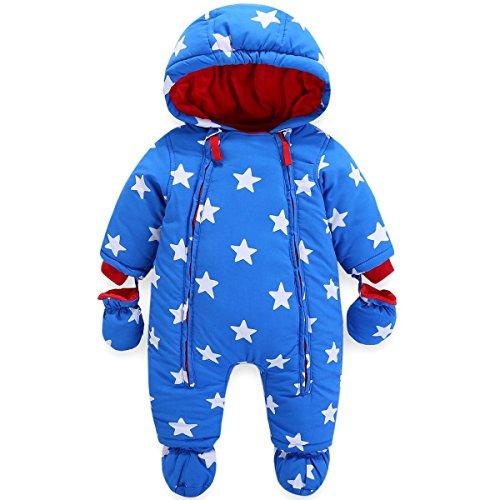 Huizhou Jimiaimee Costumes Co., Ltd Baby Winter Overall Mit Kapuze Jungen Schneeanzüge mit Handschuhen und Füßlinge Warm Kleidungsset 18-24 Monate