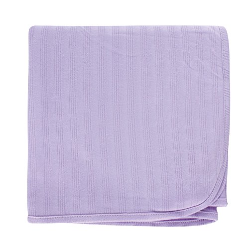 Touched by Nature Unisex Baby Organic Cotton Swaddle, Receiving and Multi-purpose Blanket, Lavender, One Size