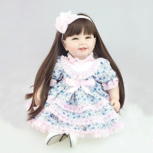 QXMEI Reborn Baby Cute Spielzeug Wiedergeburt Puppe 55cm 22 Zoll mädchen Spielzeug Langes Haar Reborn Puppe
