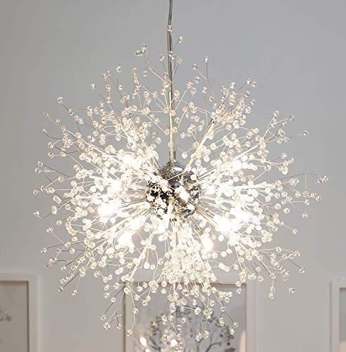 Sterne Feuerwerk Kugel Kronleuchter, postmoderne Edelstahl LED Deckenleuchte Creative Eisen Wohnzimmer Cafe Esszimmer Pendelleuchte, warmes Licht
