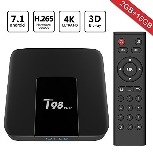 Greatever 2018 Newest T98 pro Android 7.1 TV Box 2GB+16GB with 3D/4K