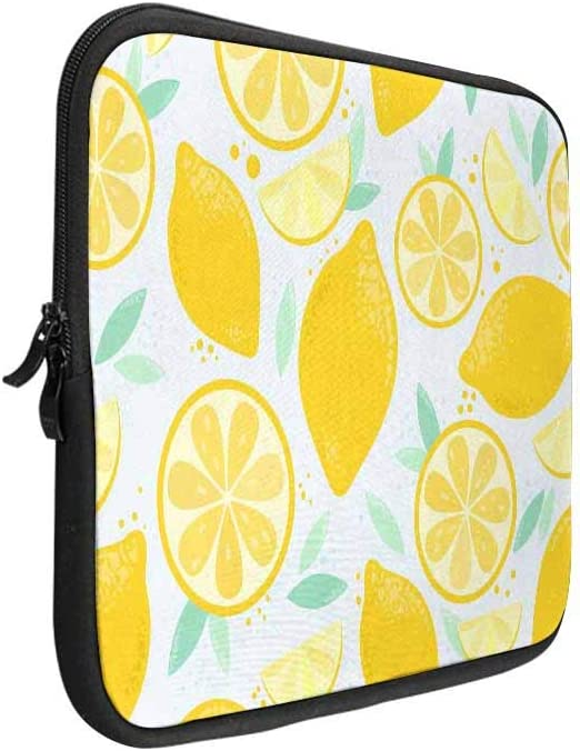 Flat lay Fruits Custom Laptop Sleeve Case Notebook Computer Bag 14 Art Prints Twin Sides