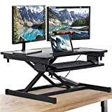 FDW Adjustable Height 32 Inches Steel Standing Desk Coverter Stand Up Desk Home Office Computer Desk...