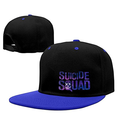 Hittings Suicide Squad Logo Baseball Adjustable Hip Pop Cap Hats Unisex,Men and Women Red Royalblue
