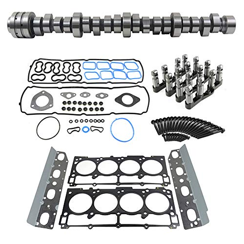 Hemi Engine Camshaft and MDS Lifters w/Gasket Bolts Seal Assembly For 2009-2019 Dodge Ram 1500 5.7L Hemi V8, Part# 53022263AF,53021726AE,53021726AD,53021720AB GELUOXI (ram 1500 cam & lifters kit)
