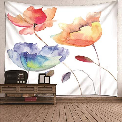 Aeici Tapiz Yoga Pared, Decoración del Hogar 3 Flores Tapiz Pared Wall Hanging, Bedsheet(300X260Cm)