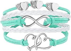 دستبندهای دستباف چرمی LovelyJewelry دخترانه دستبند دوقلوی طناب بی نهایت طناب