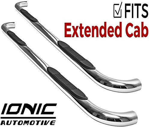 """Ionic 3"""" Stainless (fits) 1988-1998 Chevy GMC C/K Extended Cab Only Nerf Bars Side Steps (200117)"""