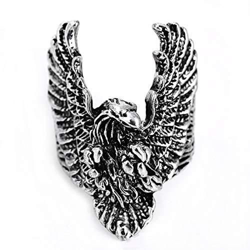 EzzySo Anillo de alas de águila, Americana Retro Tridimensional Zodiaces Anillo de aleación de Animales Joyería (2 PCS),11