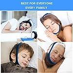 Dispositifs Anti Ronflements, Solution Anti Ronflements Réglable Mentonnière Snore Stopper pour Aide Sommeil Réduction Ronflement Mentonnière for Hommes Femmes #2