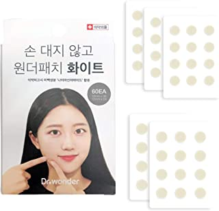 Dr.Wonder Acne Pimple Master Patch, 60 Dots in 1 Pack, 2 Sizes, White - Absorbing Cover Healing Hydrocolloid, Blemish Spot, Skin Treatment