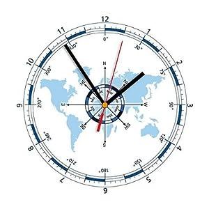 Dekorative Uhr Wanduhr Kompass Contento maritim Segler