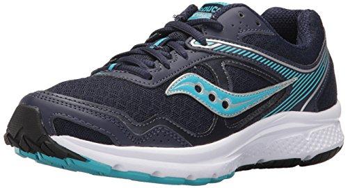 Saucony Women's Cohesion 10 Running Shoe, Navy Blue, 8 Medium US