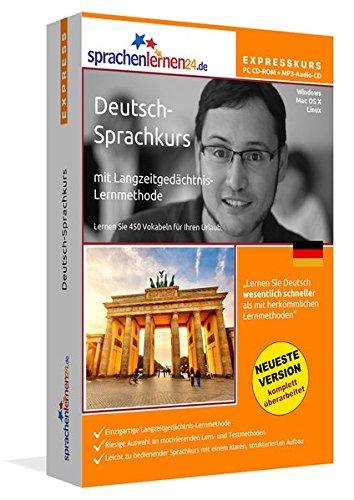 Sprachenlernen24.de Deutsch-Express-Sprachkurs: Lernsoftware auf CD-ROM für Windows/Linux/Mac OS X + Audio-Vokabeltrainer auf MP3-Audio-CD für Ihren Computer / MP3-Player / MP3-fähigen CD-Player
