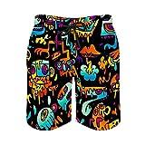 MayBlosom Pantalones cortos de playa para hombre, Jai Fischer de secado rápido, trajes de baño casuales hawaianos para fiestas de día festivo con elástico