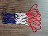 EDRLAITY 8 Loops Mini Net Replacement, Small Net for Basketball Hoop, Fits 8'-10.25' Rims, Ball Diameter Less Than 8', All Weather Anti Whip
