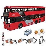 LINANNAN 3542PCS 1:16 Control Remoto Buscador de Dos Pisos DIY Bloques de construcción RC Bus Compatible con