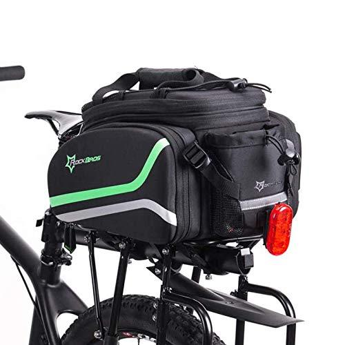 ROCKBROS Fahrrad Gepäckträgertasche Hinter Satteltasche Fahrradtasche mit Regenschutz Transporttasche Reflektierend