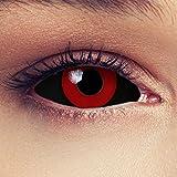 """Designlenses, Dos Sclera lentillas de color negro y rojo para Halloween 22mm Tokyo Ghoul Zombi sin dioprtías/corregir + gratis caso de lente """"Saw'"""