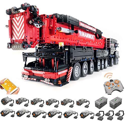KEAYO Technik Liebherr Kran LTM1750-9.1 V2 Modell, Groß Ferngesteuert Kranwagen Bausteine mit 12 Motors, Klemmbausteine MOC Bauset Kompatibel mit Lego Technik