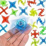 Sepco Mini Plastic Finger Gyro Fidget Spiral Twister Toys Ninja Party Favors Pack of 20